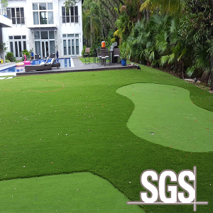 Eco-friendly golf field landscape plastic artificial grass synthetic lawn