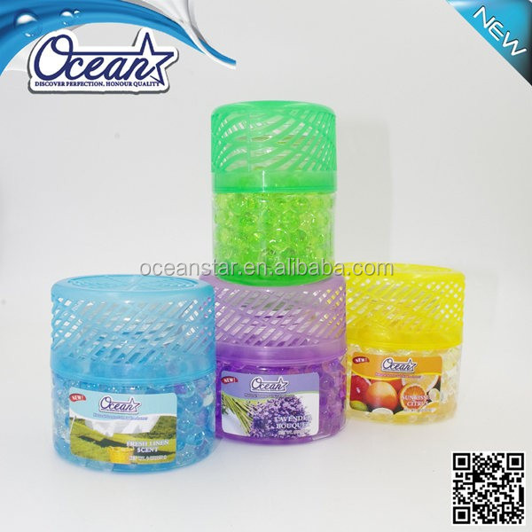 150g charming interested wholesale air freshener/superior materiaair freshener gel brands/high quality water beads air freshener
