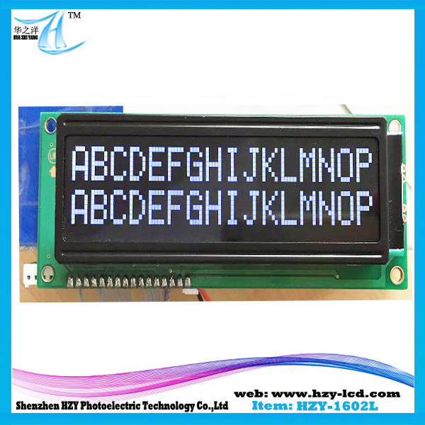 122*44*13.6 Outline 1602 Reliability Duty Approved China Top Rank LCD LCM Module LGM