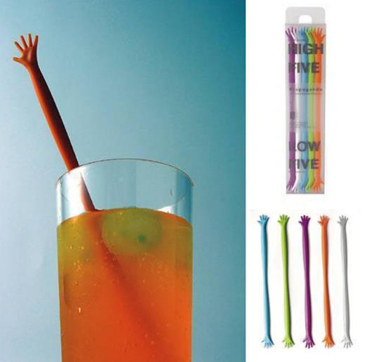 Hot Selling Hand Shape Plastic Coffee Tea Drink Mixing Custom Cocktail Stir Stick Swizzle Sticks For Bar Tool