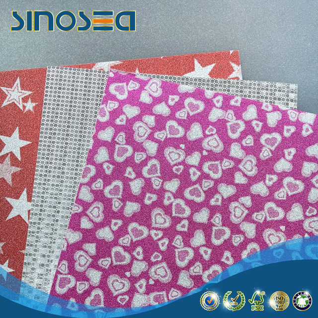 China factory customized glitter wrapping paper for gift package