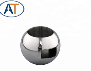 China Supplier High Quality Hollow Valve Ball with diversion tube suitable for Welding