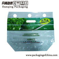 Fruit packaging bag with zipper,grape packaging with ziplock