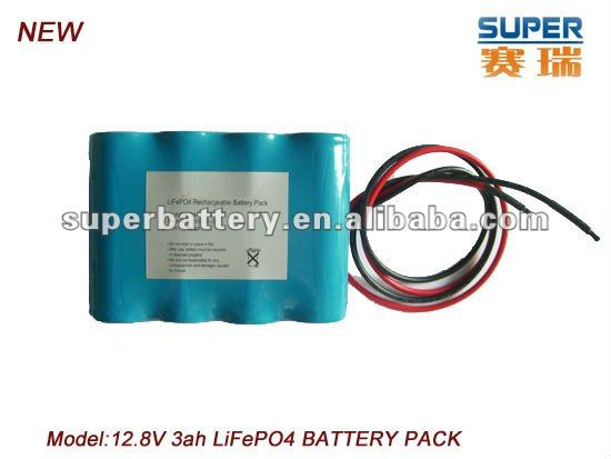 (CNL-26650)4S1P Rechargeable 26650 12.8V 3000mAh LiFePO4 rechargeable Battery Pack