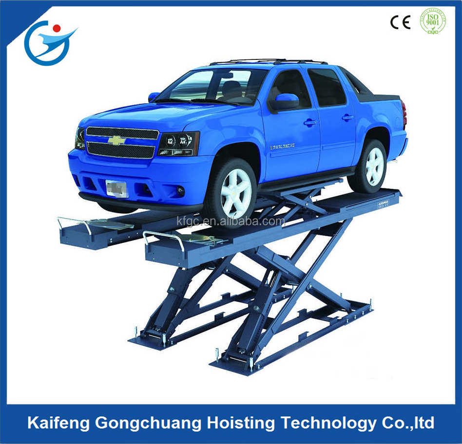 upright electro-hydraulic car scissor lift in malaysia for repair maintenance