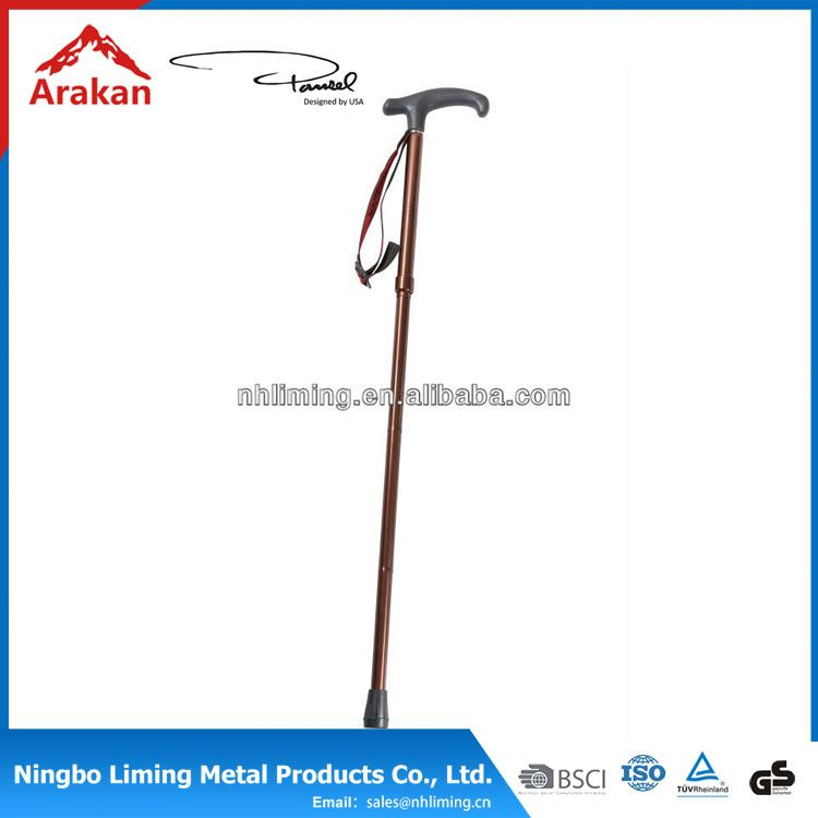 Hot selling telescope nordic hiking poles with cork handle outdoor walking stick