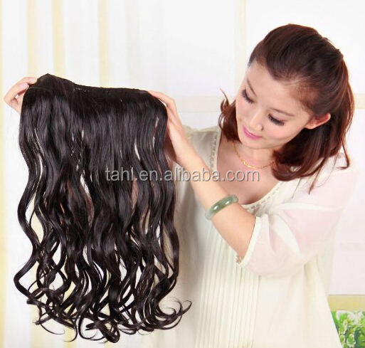 Natural Curly Clip In Synthetic Hair Extensions