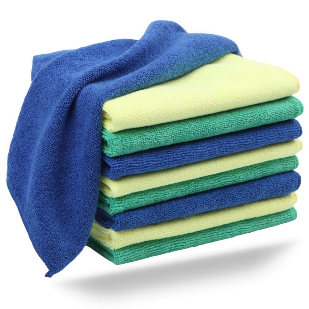 30 Pack Reusable Nonwoven Microfiber Cleaning Cloths