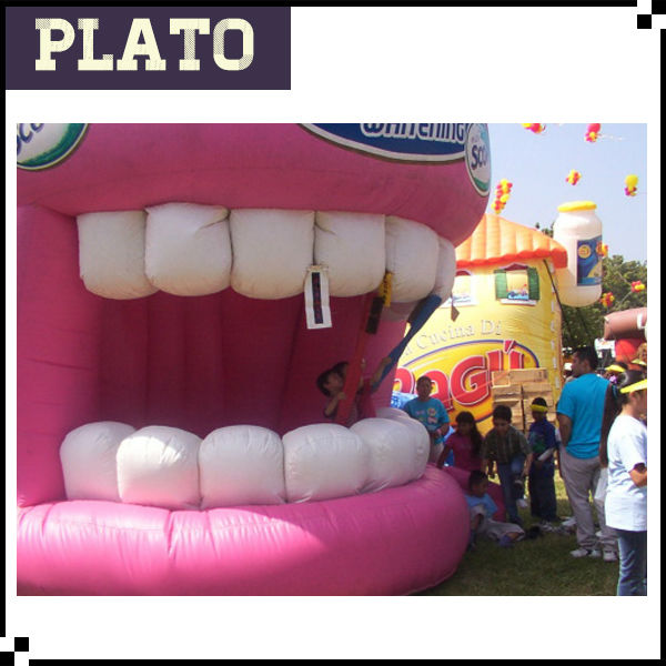 Custom giant inflatable replica tooth models for advertising