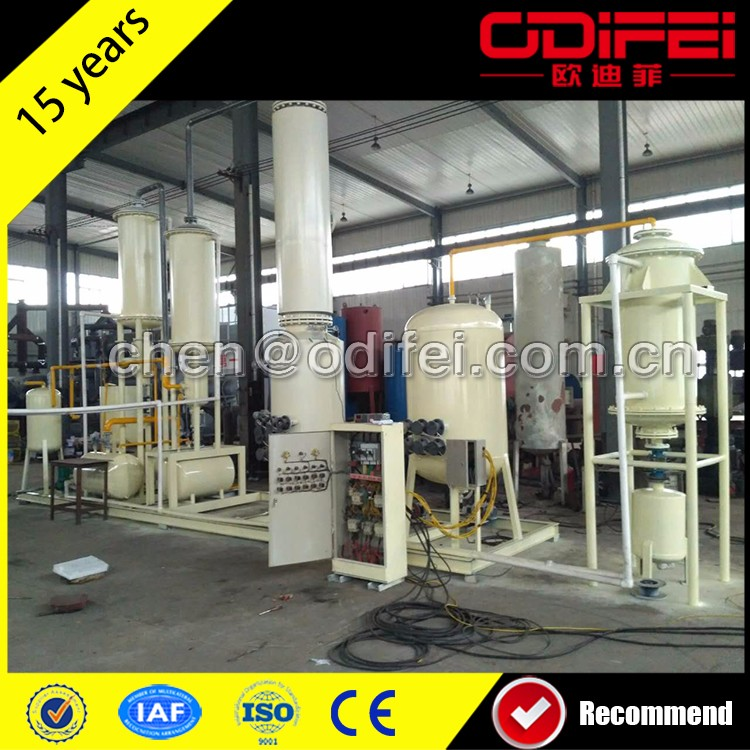 Fully Automatic Continus Plastic Oil Distillation To Gasoline Machine