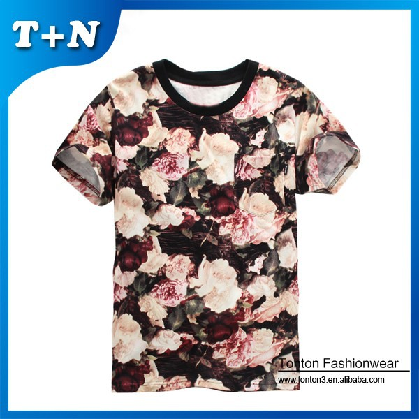 hot sale latest model all over sublimation printing t shirt