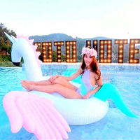 Wholesale Custom Animal Shaped Unicorn Inflatable Pool Swimming Floats For Adults
