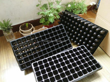 72 deep Cell black plastic seed tray for plants, nursery tray for tree seedlings
