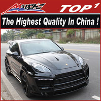 PU and carbon body kit for Porsche 2011-2014 958 TURBO LA Style wide body 6 exhaust turbo body kit for Cayenne