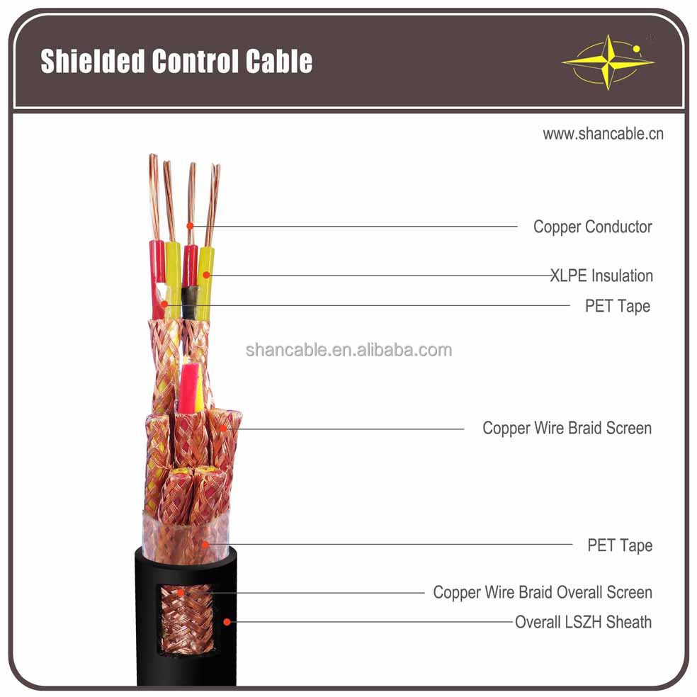 xlpe insulated multicore screened instrumentation electric cable