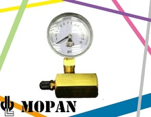 Natural Gas Pressure Gauge with Adapter