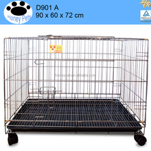 Portable foldable iron dog cage for sale chiang mai cheap