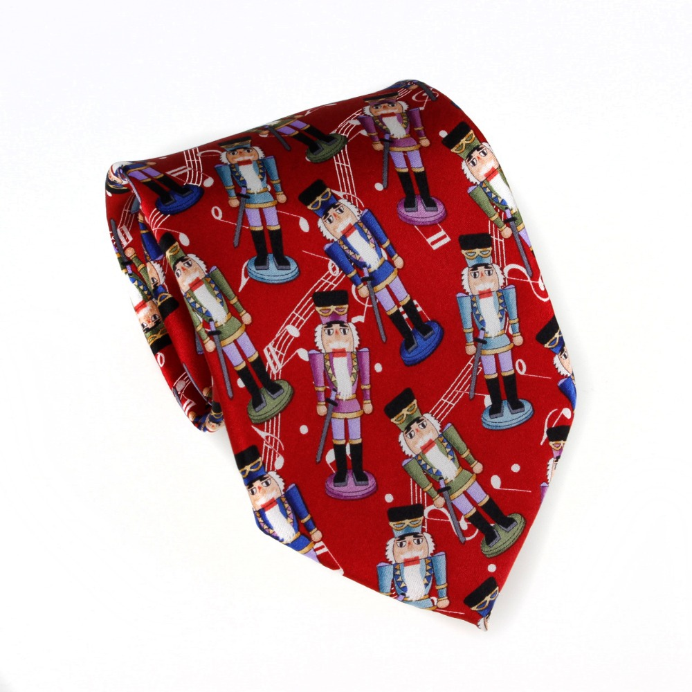 men's polyester cheap print tie