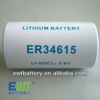 ( manufacturer)saft ls14500 3.6v lithium battery ER34615 D Size 3.6V