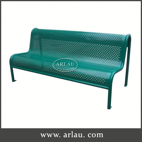 Arlau Outdoor Metal Garden Bench Legs, Outdoor Steel Pipe Balcony Patio Bench, Bench With Metal Frame