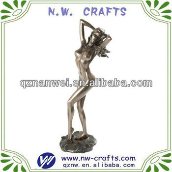 Resin sex naked woman sculpture for gift