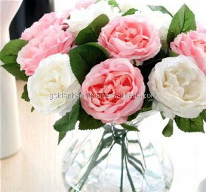 Factory artificial silk rose flowers for wedding decoration