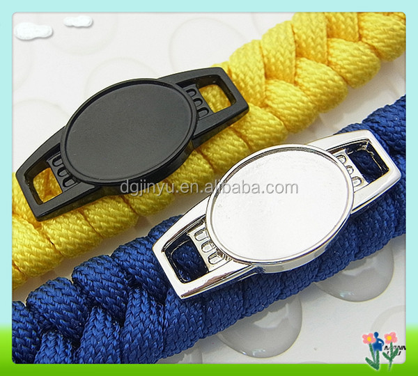 metal oval paracord charms, blank shoelace charm wholesale