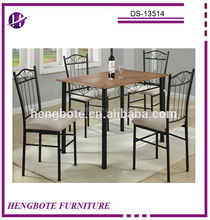 PB wood top dining room dinette set/metal tube dinette sets in dining room