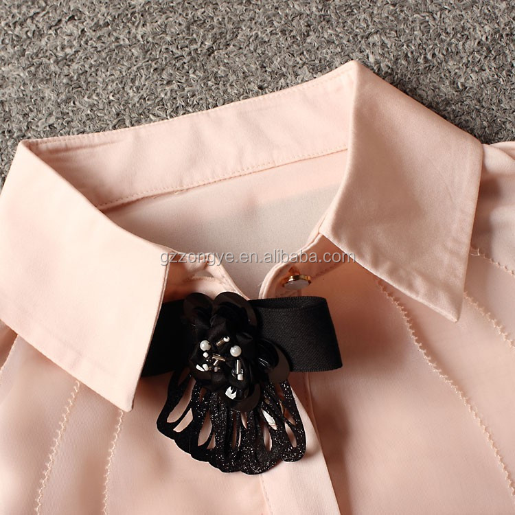 High quality ladies fashion chiffon shirt China clothing manufacturers