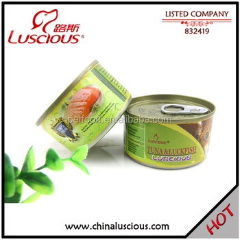 80g Tuna & Luck Fish High Quality Canned Cat Food