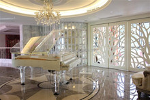 [Luxury Furniture Decoration] High End & Luxury Hotel Pianos Crystal Acrylic Grand Piano Furniture HG-186A