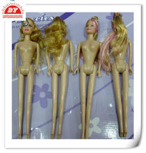 15 inch Naked plastic doll bodies,custom craft plastic dolls bodies