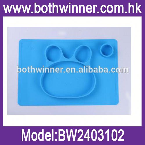 TSJ plate for kids silicone baby place mat