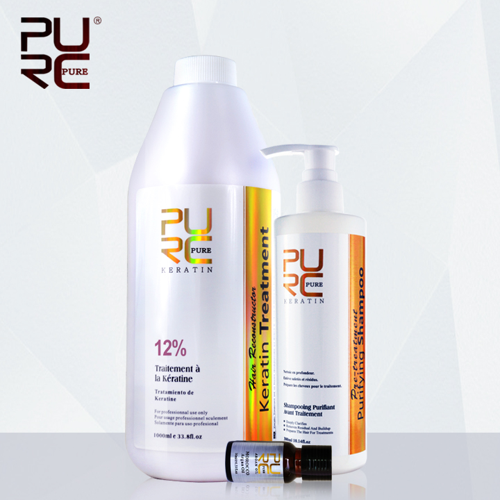 Professional healthy keratin hair treatment styling products