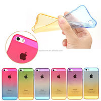 Cheap product Clear ultra thin Dual colors Soft TPU mobile phone cases for iPhone 5/5s , for iPhone 5/5s cover case