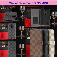 Cell Mobile Phone Flip Leather Stand Case For LG G3 Mini With Card Holder