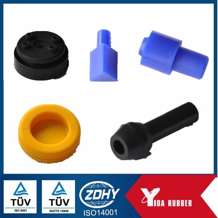 Factory customized small rubber part with different colors and shapes/ excavator vibration proof rubber part
