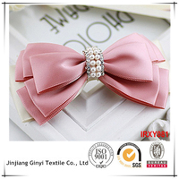 lovely color fashion korean hair bow with elastic band for ladies