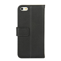 Wholesale Factory Price Smart Leather Case for iPhone 5S Flip Stand Design Phone Back Cover with Card Slot Book Style