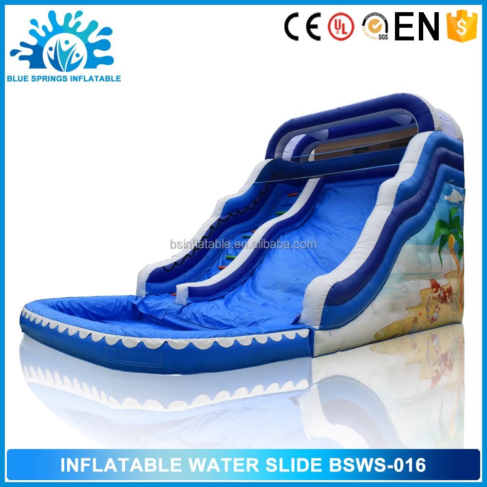 Blue Springs Outdoor toys Commercial Inflatable Water Slide Manufacturer