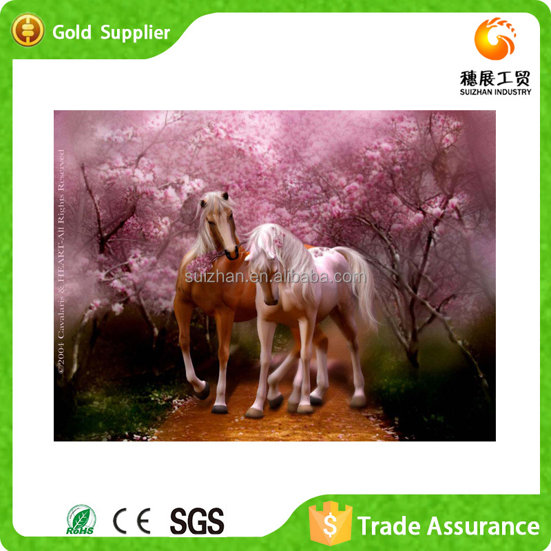 Latest design modern horse art painting 5d diy diamond painting for home decorations