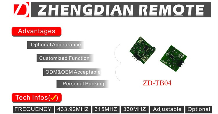 ZD-TB04 315MHZ 433MHZ RF wireless transmitter module with long transmitting range