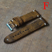 Vintage Italian Mens Band Leather Distressed Aged Watch Strap