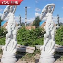 High quality guarantee stone sexy nude woman marble statue