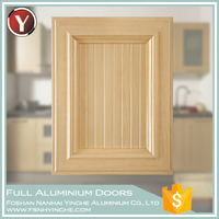 Newest Wood Grain Full Aluminium Kitchen Cabinet Door