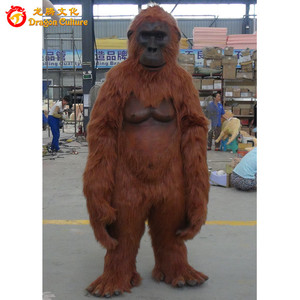 Life-size Custom Made Animatronic Gorilla Animal Costumes Suit For Sale