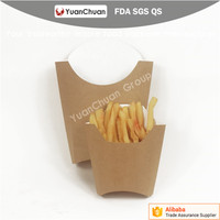 2016 Chinese factory export hot selling Disposable potato chips kraft paper packaging box