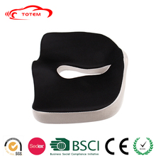 Coccyx Orthopedic seat cushion memory foam, custom design coccyx cushion, sofa chair cushion velour cover fabric