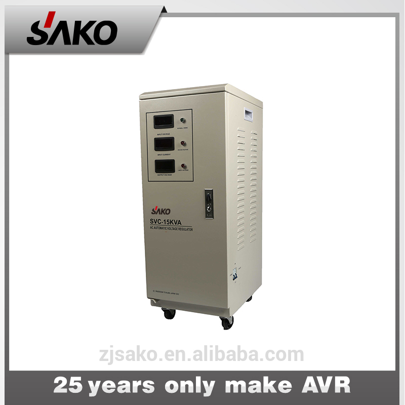 15kva servo motor type automatic voltage stabilizer 220v ac