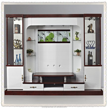 SHX design living room tv set furniture 9905# led tv wall units wooden tv cabinet designs